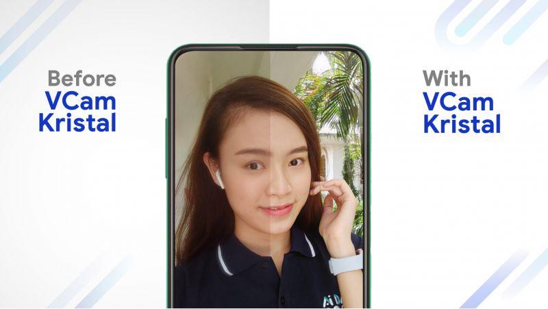 VCam Kristal giúp hiện thực hóa trải nghiệm màn hình vô khuyết trên điện thoại thông minh của VinSmart