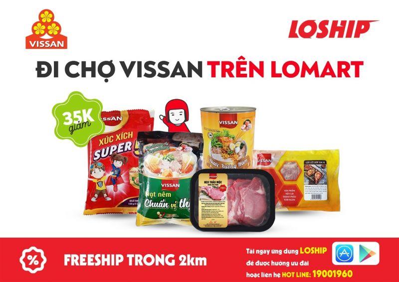 Vissan khai trương chuỗi cửa hàng trên dịch vụ đi chợ hộ Lomart thuộc ứng dụng Loship
