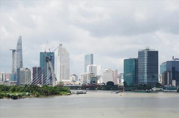 Cầu đi bộ bắc qua sông Sài Gòn sẽ được xây dựng tại vị trí giữa cầu Thủ Thiêm 2 và hầm Thủ Thiêm
