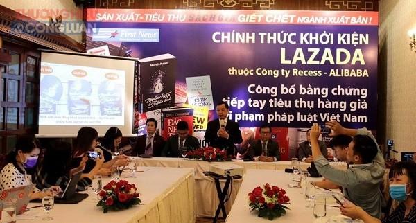 Công ty Văn hóa Sáng tạo Trí Việt - First News công bố chính thức khởi kiện chủ sở hữu website TMĐT Lazada.