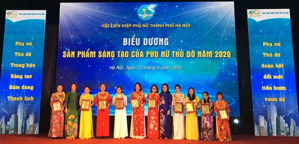 Hà Nội: Tôn vinh 10 ý tưởng, sản phẩm sáng tạo tiêu biểu của phụ nữ
