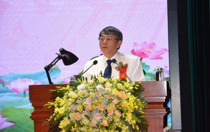 Chủ tịch UBND tỉnh Hoàng Xuân Ánh phát biểu khai mạc Đại hội