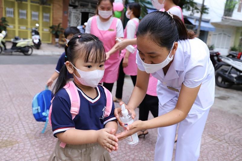 Các trường mầm non trên địa bàn TP. Đà Nẵng đón học sinh quay lại trường ngày đầu tiên vào hôm 21/09 vừa qua