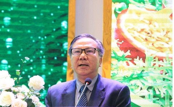 Ông Nguyễn Văn Tuấn - GĐ Sở Nông nghiệp và Phát triển Nông thôn tỉnh Lào Cai phát biểu tại lễ ra mắt hai sản phẩm mới của Công ty  TNHH Long Hải