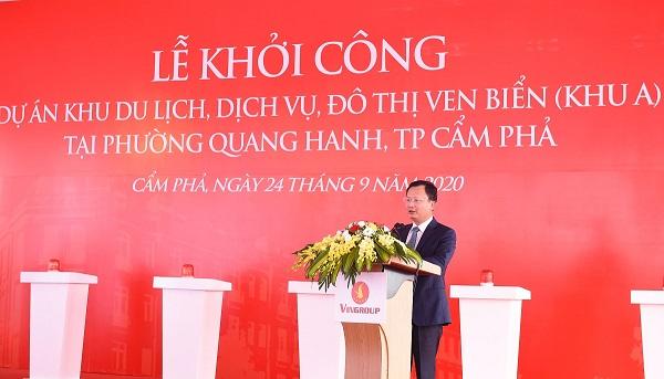 Ông Cao Tường Huy - Ủy viên Ban Thường vụ Tỉnh ủy, Phó Chủ tịch UBND tỉnh Quảng Ninh phát biểu chỉ đạo