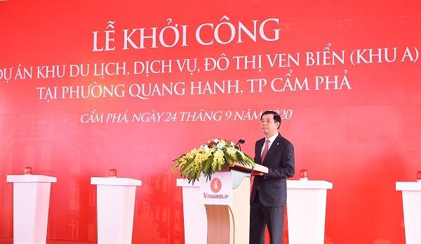 Ông Nguyễn Việt Quang - Phó Chủ tịch kiêm Tổng giám đốc Tập đoàn Vingroup khẳng định Quảng Ninh là một trong những địa bàn đầu tư trọng điểm của Tập đoàn Vingroup