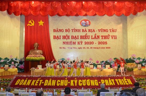 Văn nghệ chào mừng Đại hội Đại biểu Đảng bộ tỉnh Bà Rịa Vũng Tàu, lần thứ VII, nhiệm kỳ 2020-2025