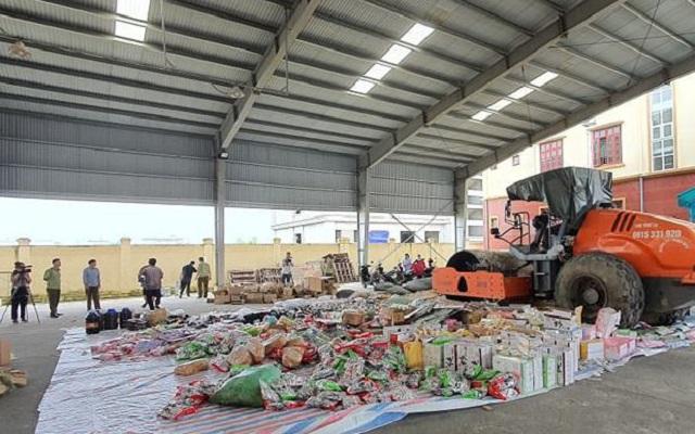 Tổng giá trị các lô hàng bị tiêu hủy được xác định trên 740 triệu đồng.