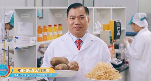 Ông Nguyễn Văn Thuần, Ban Quản lý Dự án Nhà máy sản xuất nước rong biển.