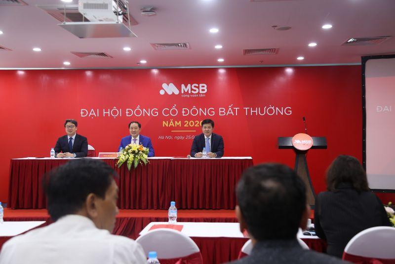 MSB tổ chức Đại hội cổ đông bất thường, bầu bổ sung thành viên Hội đồng quản trị