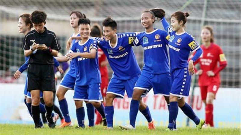 Các cô gái Thái Nguyên T&T thi đấu ấn tượng trước nhà cựu vô địch Phong Phú Hà Nam