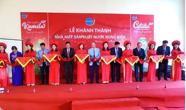 Công ty TNHH Long Hải xây dựng nhà máy sản xuất đồ uống mới với nhãn hiệu nước rong biển ép Kamila và Catalia