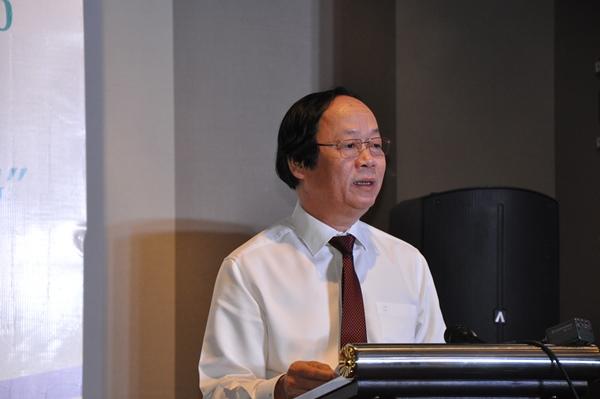 Ông Võ Tuấn Nhân, Thứ trưởng Bộ Tài nguyên và Môi trường dự và phát biểu