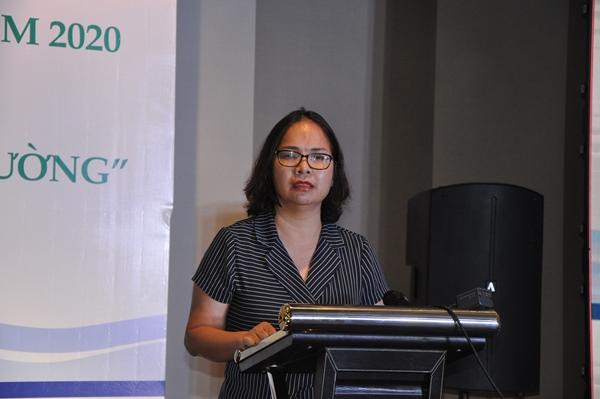Bà Đoàn Thị Thanh Mỹ, Phó Tổng cục trưởng, Tổng cục quản lý đất đai phát biểu