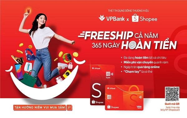 Freeship cả năm, 365 ngày hoàn tiền với thẻ VPBank – Shopee