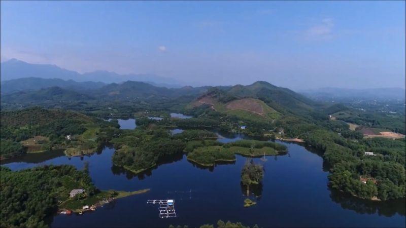 Đập Ghềnh Chè rộng khoảng 90 ha trên địa xã Bình Sơn, TP. Sông Công