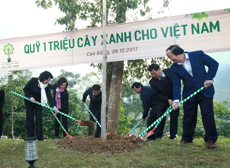 Vinamilk trao tặng hơn 80.700 cây xanh tại tỉnh Cao Bằng, ngoài trồng tại Khu di tích Quốc gia Pác Bó thì còn được giao cho người dân để trồng cây gây rừng
