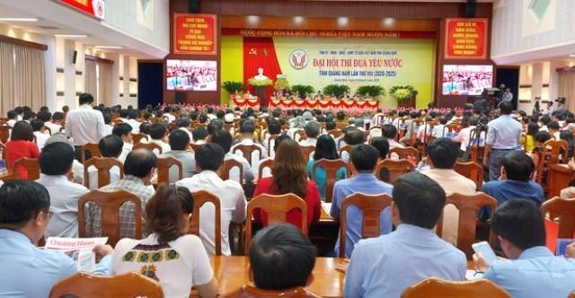 Quang cảnh Đại hội Thi đua yêu nước tỉnh Quảng Nam lần thứ VIII (2020 - 2025)