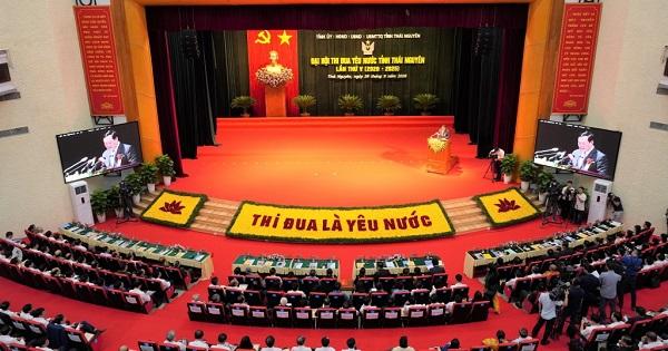 Toàn cảnh Đại hội Thi đua yêu nước tỉnh Thái Nguyên lần thứ V, giai đoạn 2020 - 2025
