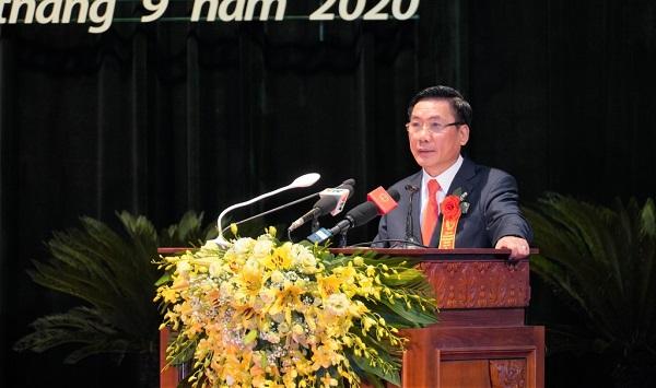 Ông Vũ Hồng Bắc, Phó Bí thư Tỉnh ủy, Chủ tịch UBND tỉnh Thái Nguyên, Chủ tịch Hội đồng Thi đua - Khen thưởng tỉnh Thái Nguyên phát biểu khai mạc Đại hội