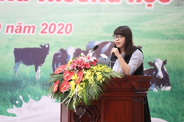 PGS.TS. Bùi Thị Nhung, Viện Dinh dưỡng chia sẻ tầm quan trọng của sữa học đường và dinh dưỡng học đường với sự phát triển trí lực của trẻ em mẫu giáo và tiểu học.