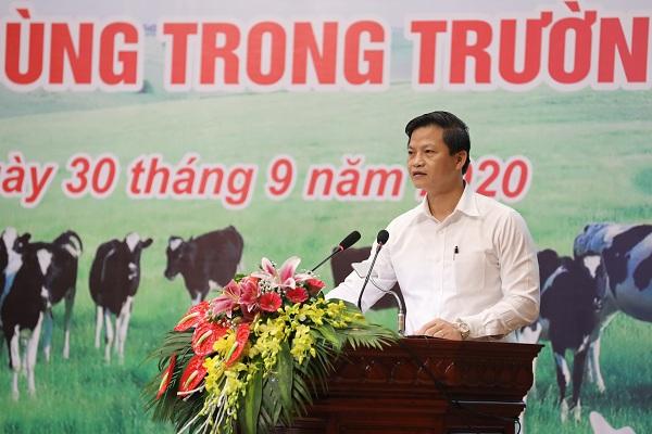 Ông Vương Quốc Tuấn – Ủy viên BTV Tỉnh ủy – Phó Chủ tịch UBND tỉnh Bắc Ninh chia sẻ về công tác triển khai chương trình Sữa học đường tại tỉnh Bắc Ninh từ năm 2013 đến nay