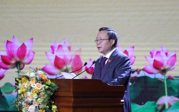 Ông Phùng Quốc Hiển phát biểu tại buổi lễ.