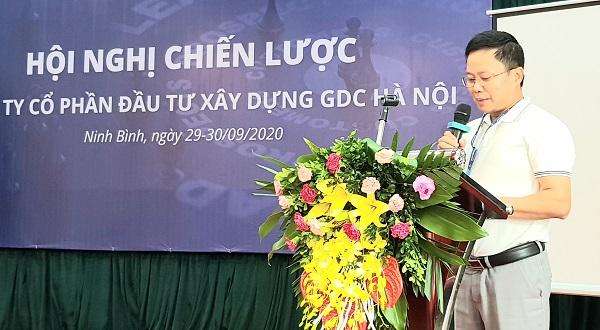 Chủ tịch HĐQT Công ty GDC Hà Nội, Nguyễn Văn Khoa phát biểu tại hội nghị