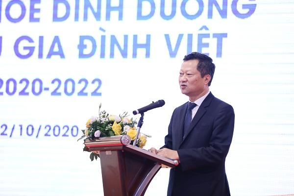 Ông Hoàng Văn Thành, Chủ tịch CLB ĐDT Việt Nam phát biểu về mục đích của hợp tác với Vinamilk và các lợi ích sẽ mang đến cho hội viên của CLB