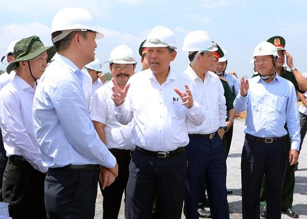 Phó thủ tướng Trương Hòa Bình thị sát Khu tái định cư Lộc An - Bình Sơn, liên quan đến sân bay Long Thành.