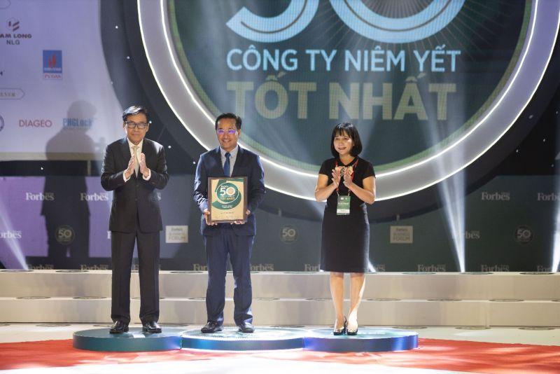 Coteccons 8 năm liên tiếp lọt vào top 50 công ty niêm yết tốt nhất do Forbes Việt Nam công bố (Ảnh: Coteccons)