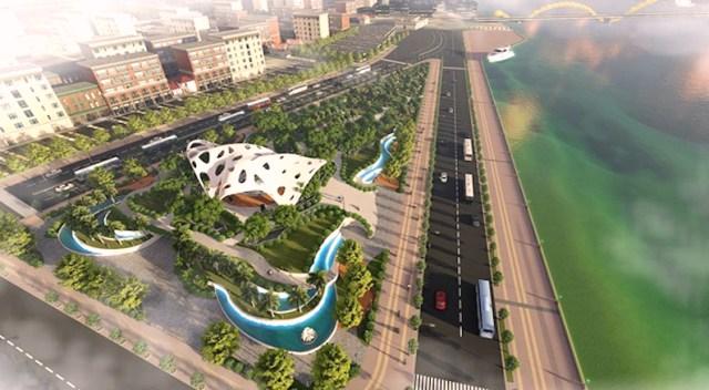 Phối cảnh Vườn tượng APEC mở rộng.
