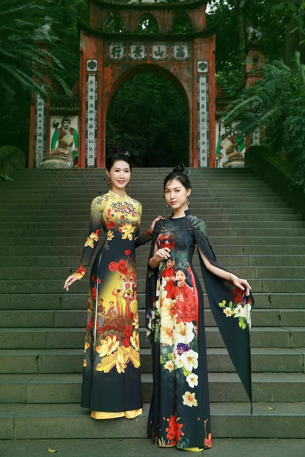 Việc đưa các họa tiết trên lên trang phục áo dài sẽ góp phần quảng bá di sản và du lịch Phú Thọ.
