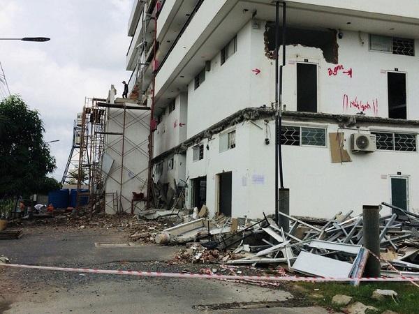 Một khu chung cư mini ở Thủ Đức bị cưỡng chế vì xây dựng sai phép