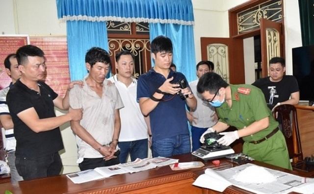 Lê Đức Bình bị lực lượng Công an Ninh Bình bắt giữ khi đang vận chuyển lượng lớn ma túy