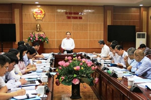 Phó Chủ tịch Thường trực UBND tỉnh Nguyễn Đức Quyền đã chủ trì hội nghị