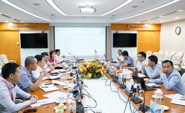 Quang cảnh buổi làm việc của Lãnh đạo PVN tại PV GAS