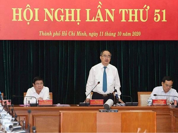 Bí thư Thành ủy TP.HCM phát biểu tại hội nghị