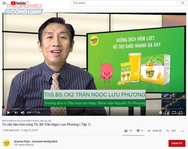 Scurma Fizzy đang sử dụng những chia sẻ của Ths. BS. CK2 Trần Ngọc Lưu Phương, Trưởng đơn vị Tiêu hóa can thiệp, bệnh viện Nguyễn Tri Phương để quảng cáo