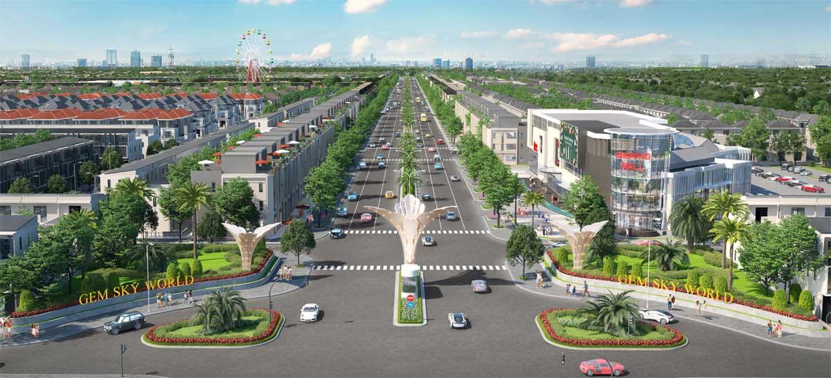 Phối cảnh dự án Gem Sky World của Đất Xanh Group tại tỉnh Đồng Nai