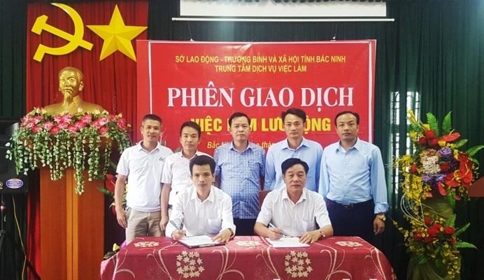 Trung tâm Dịch vụ việc làm ký kết biên bản ghi nhớ với Trường Trung cấp Kinh tế - kỹ thuật Bắc Ninh