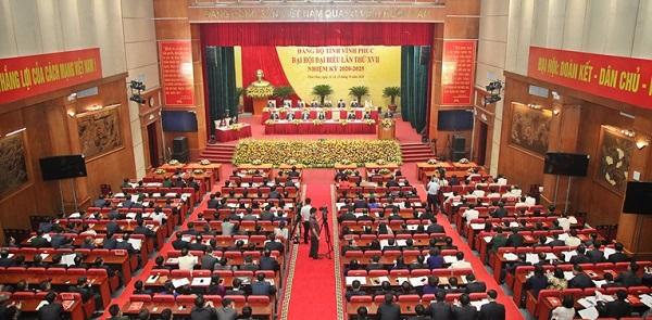 Đại hội đại biểu Đảng bộ tỉnh Vĩnh Phúc lần thứ XVII, nhiệm kỳ 2020-2025