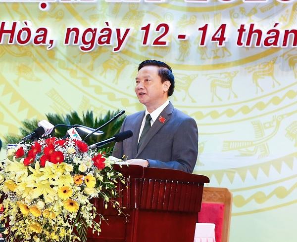 Ông Nguyễn Khắc Định, UVBCHTƯ Đảng, Bí thư tỉnh ủy nhiệm kỳ 2015- 2020, tiếp tục tái cử Bí thư tỉnh ủy nhiệm kỳ 2020- 2025