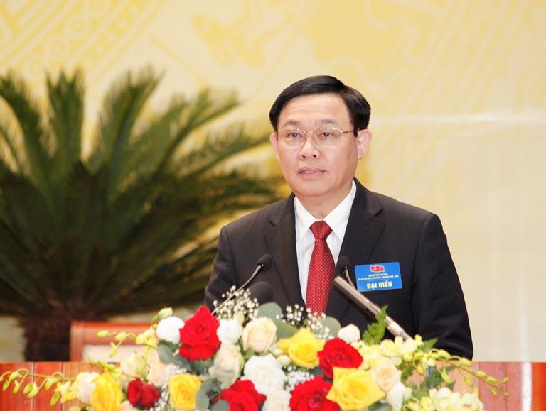 đồng chí Vương Đình Huệ, Ủy viên Bộ chính trị, Bí thư Thành ủy Hà Nội