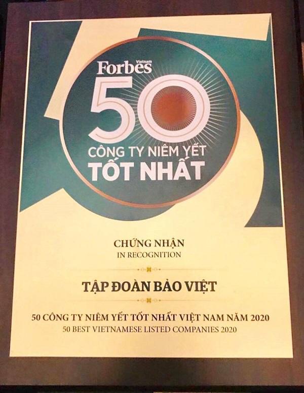 Tập đoàn Bảo Việt Top 50 công ty niêm yết tốt nhất năm 2020