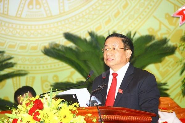 Bí thư Tỉnh ủy Lê Đình Sơn phát biểu khai mạc Đại hội
