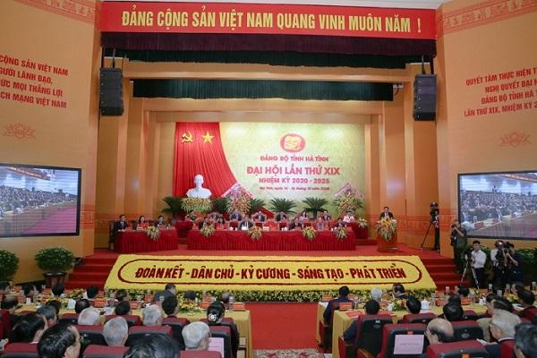 Đại hội Đại biểu Đảng bộ tỉnh Hà Tĩnh khai mạc