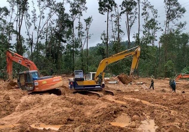 Hiện rường vụ sạt lở đất tại Tiểu khu 67