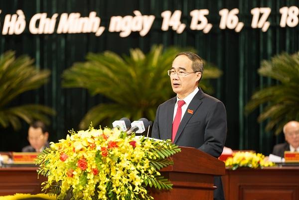 Ông Nguyễn Thiện Nhân - Bí thư Thành ủy phát biểu khai mạc Đại hội.