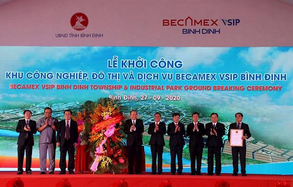 Lễ khởi công Khu Công nghiệp, Đô thị và Dịch vụ Becamex VSIP Bình Định.